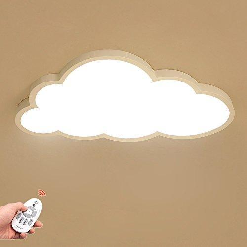 Luz de techo LED Ultra-delgada 5 cm Nubes creativas Lámpara de techo Luz de techo del dormitorio Luz de techo para niños y niñas Lámpara de dormitorio de dibujos animados de techo (Regulable)