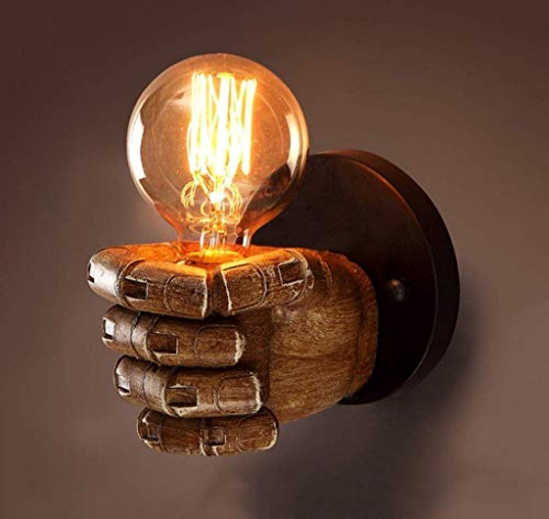 Wall Light Home Wandmontierte Wandbeleuchtung Retro 1-Light Clenched Fist Kreative Innenwandleuchte (Größe   Right Hand)