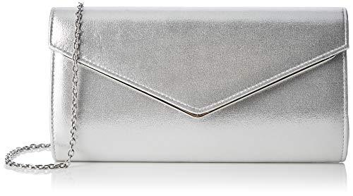 Lotus Damen Nina Clutch, Silber (Silver), 5x14x25 Centimeters