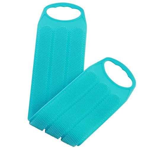 BBZZ Scrubber per Il Corpo, Lavatrice Posteriore in Silicone per Il Bagno, 20 Pollici, Massaggio Fronte/Retro a 2 Colori esfoliante Spazzola Posteriore (2-Pack)