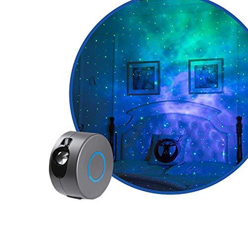 YUNYODA Proiettore cielo Stellato,3D Proiettore Luce Stellare con Telecomando Rotazione a 360 °/7 colori/Effetto Aurora lampada di proiezione a LED mobile, luce d'atmosfera per la decorazione della