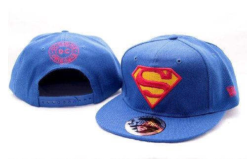 Up Close Superman Logo Cap Taille Adulte – Bleu Roi, 100% Coton, brodée. Ajustable.