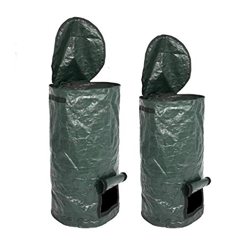 Buy Discount Compost Bag Collapsible Garden Yard with Lid Environmental Refuse Sacks Organic Ferment...
