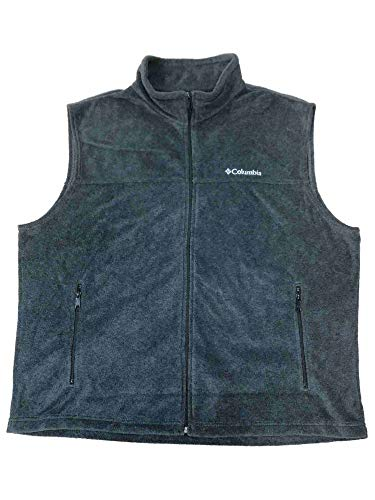 Columbia Men's Gray Flattop Ridge Fleece Vest Zip Front Jacket XX-Large