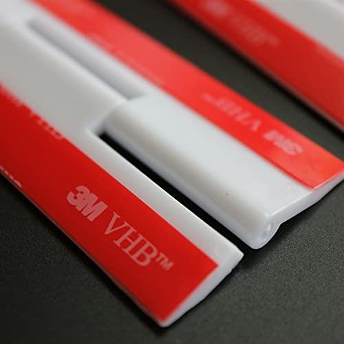 4x Blanco Bisagras acrílicas: no se requiere pegamento. Autoadhesivas. Plástico Blanco acrílico 200mm