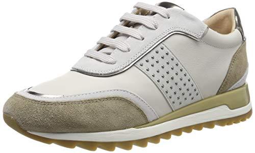 Geox Damen D TABELYA A Sneaker, Off White, 38 EU