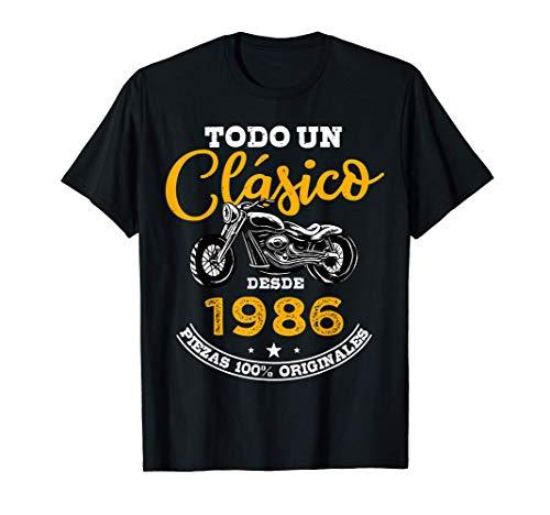 Motero Todo Un Clásico Nacido En 1986 35 años Cumpleaños Camiseta