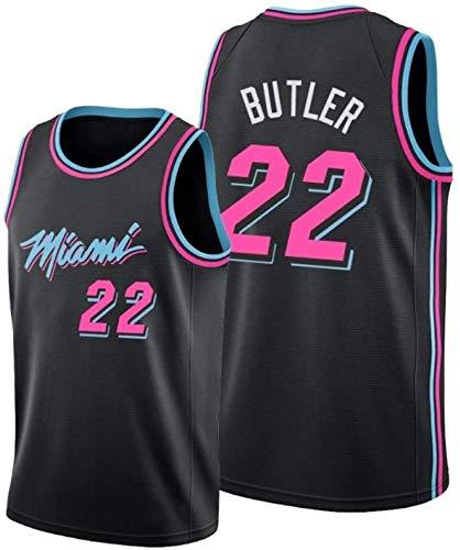 canottejerseyNBA Jimmy Butler - Miami Heat #22, Basket Jersey Maglia Canotta, Swingman Ricamata, Abbigliamento Sportivo (S, Nero City Edition '19)