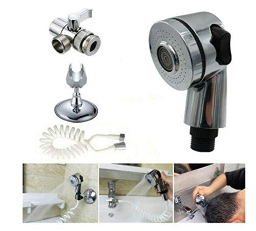 Set di spruzzatori per lavandino da bagno regolabile - Doccetta per doccia a collegamento rapido Lavello staccabile per spray Set di doccette per lavaggio capelli, Bagno per animali domestici