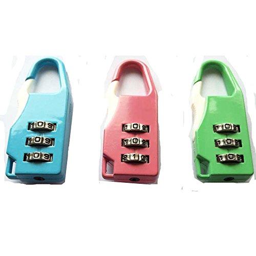 Kombination Padlock Set. Code-Kombination Travel Lock für Koffer, Sporttaschen, Schließfach. Zufällige Farben 3er Pack
