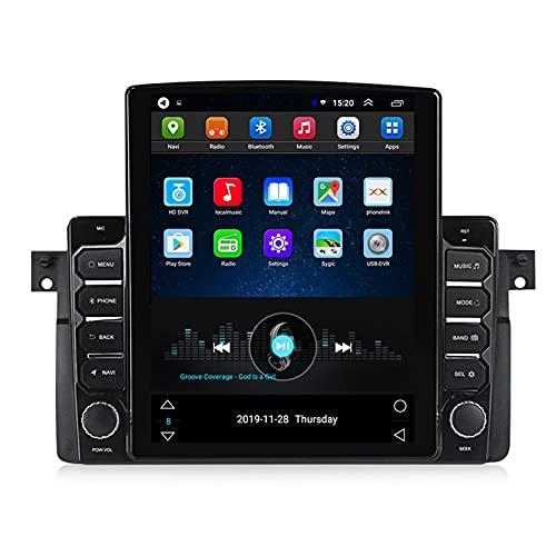 ADMLZQQ 2 DIN Android Radio Coche Indash Estéreo automóvil para BMW 3 Series M3 E46 1998-2006, Pantalla Vertical 9.7 Pulgadas, Bluetooth/FM/GPS/SWC/DSP/Cámara Trasera,Ts100 WiFi:1+16g