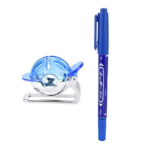 Keenso Pennarello da Golf, 3 Colori Pallina da Golf Liner Line Marker Modello di Disegno Strumento di allineamento con Accessori per Penna(Blu)