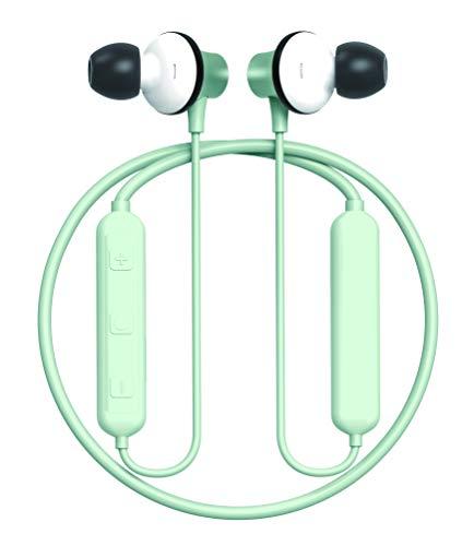 Power4 In-Ear Noise Cancelling koptelefoon | Wireless Bluetooth 5.0 | 98 dB Hi-Fi Stereo | Dual 13 mm HD driver | headset-functie | magnetische oortelefoon | waterdicht volgens IPX8 | groen met LEDs