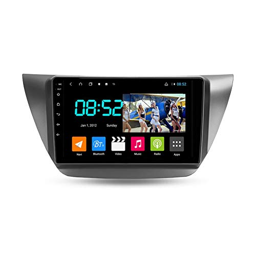 Foof Autoradio 2 DIN, Android Bluetooth Radio De Coche 9'' Pantalla Táctil WiFi Plug and Play Completo RCA Soporte Carautoplay/GPS/Dab+/OBDII para Mitsubishi Lancer 9,Octa Core,4G WiFi 6G+128G