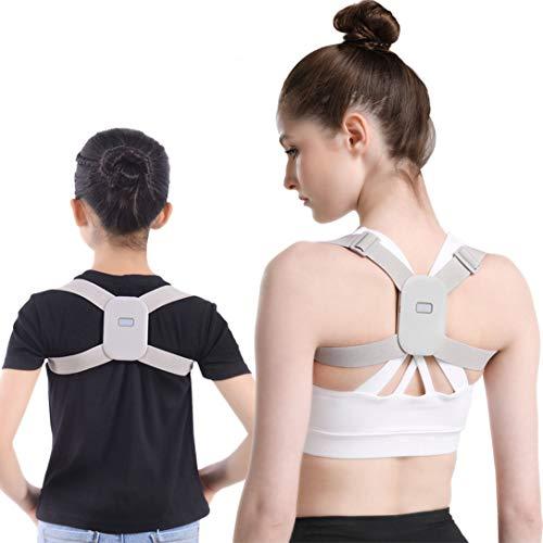 Rücken Geradehalter zur Haltungskorrektur mit Vibration, Schultergurt Haltungskorrektur Haltungstrainer für Herren/Damen/Kinder, Rückentrainer Rückenstütze Verstellbar für Rücken Schulterschmerzen