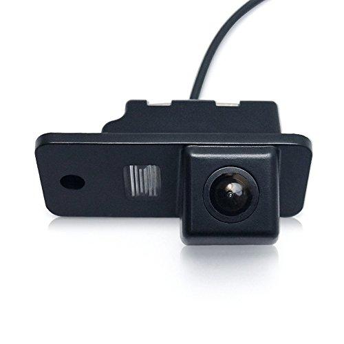 Auto Rückfahrkamera in Kennzeichenleuchte Weitwinkel mit Radar Sensor Einparkhilfe,Fahrzeug-spezifische Kamera integriert in Nummernschild Licht für Audi A1 A3 A4 A5 A6 A7 A8 Q3 Q5 Q7 A4L A6L A8L