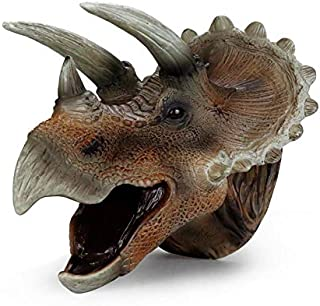Soft Rubber Realistic Dinosaur Hand Puppets Role Play Toy for Kids and Toddlers (Triceratops)