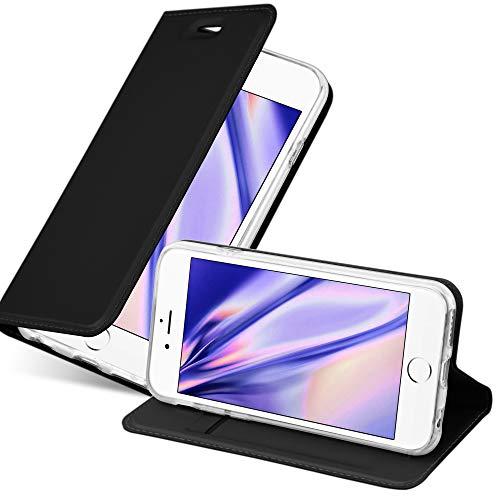 Cadorabo Funda Libro para Apple iPhone 6 / iPhone 6S en Classy Negro - Cubierta Proteccíon con Cierre Magnético, Tarjetero y Función de Suporte - Etui Case Cover Carcasa