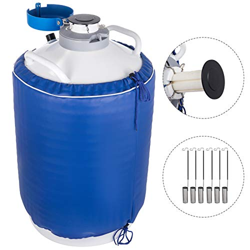 VEVOR 20L Contenitore per Azoto Liquido Contenitore di Azoto Liquido per Serbatoio di Azoto Liquido con 6 Scatole Metalliche