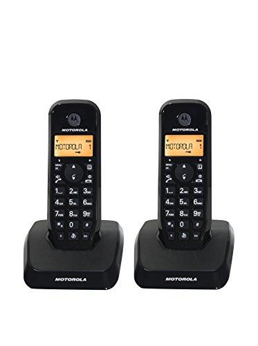 Motorola S1202 Duo - Teléfono Fijo inalámbrico, Color Negr