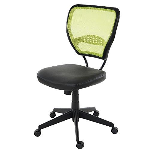 Mendler Profi-Bürostuhl Seattle, Chefsessel Drehstuhl, 150kg belastbar, Kunstleder ~ grün ohne Armlehnen