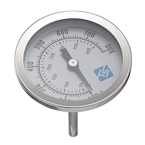 MagiDeal Termómetro de barbacoa para parrilla de carbón de leña, medidor de temperatura de gran Dial de 2,44 pulgadas