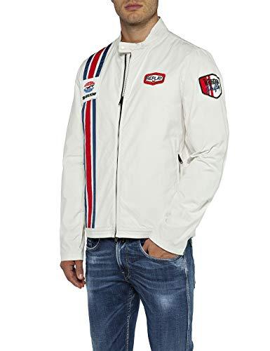 Replay Herren M8976 .000.82990 Jacke, Weiß (Natural White 11), Small (Herstellergröße: S)