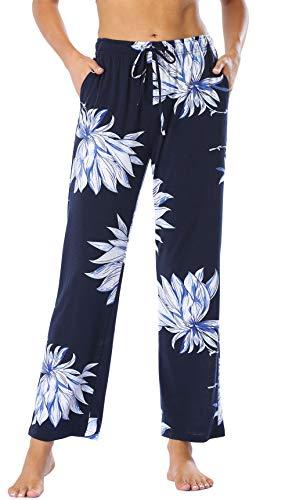 Vlazom Jogginghose Damen Freizeithose lang Sporthose für Frauen Baumwolle Schlafanzughose lang Streifendruck Yogahose Fitness Hose