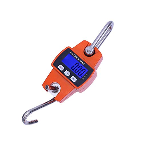 ZCY Elektronische digitale keukenweegschaal, voor levensmiddelen geschikte compacte hangende aluminium precisie-hangende kleine elektronische haak 300 kg/100 g