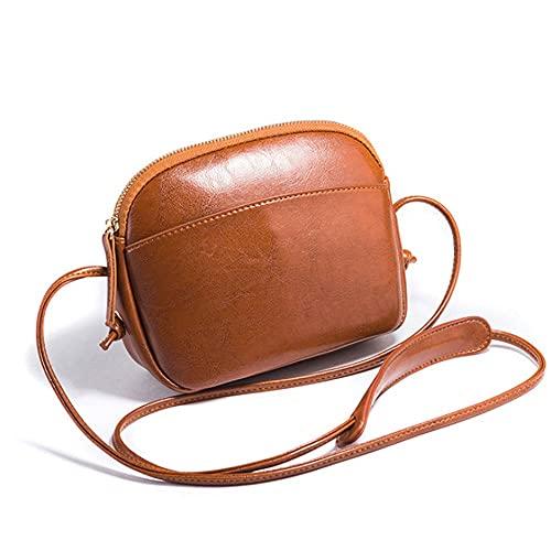 CZFSKCZdjb Bolsos Mujer Grandes Nuevo Bolso pequeño Simple Bolsa de Mensajero Mensajero Mini Bolso de Hombro Bolsa de teléfono móvil para Mujer (Color : Brown)