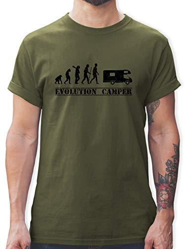 Evolution - Evolution Camper - M - Army Grün - wohnmobil t-Shirt - L190 - Tshirt Herren und Männer T-Shirts