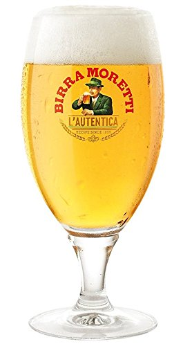 """Birra Moretti L""""Autentica Pale Lager .4L Beer Glass Chalice"""