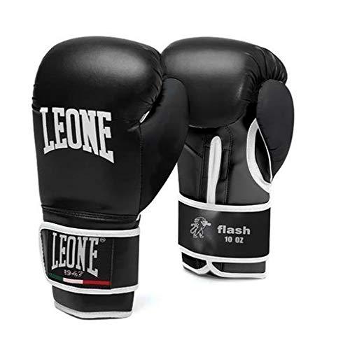 Leone1947 Kinder Boxhandschuhe Flash - Schwarz - Boxhandschuhe Boxen Kickboxen Sparring Muay Thai für Kinder Jungen Mädchen 4-8 Unzen (6 Unzen)