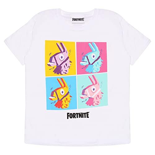 Fortnite Crew Neck T-Shirt for Girls, Loot Llama Pop Art Print, 100%...