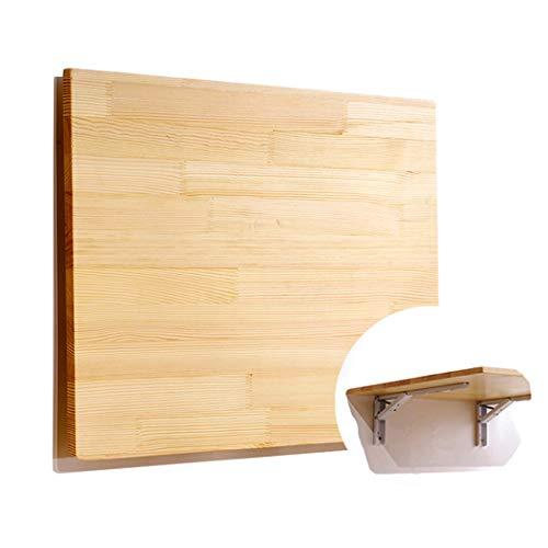Wandklaptafel, klaptafel, uitklapbare keukentafel, eettafel, inklapbaar, van hout, aan de muur hangende lange, eettafel, bureau, ontbijttafel, schrijftafel, schrijftafel 70 * 40cm 3