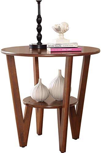 Plantenstandaard LF- Flower Stand eenvoudige bijzettafel, kleine salontafel, bijzettafel, bank, hoek, walnoot opbergtafel sterk en robuust