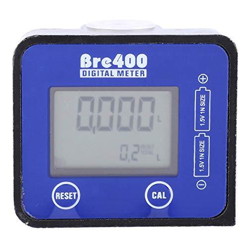 Durchflussmesser,Flow Meter LCD Anzeige Hohe Genauigkeit Aluminiumlegierung Kraftstoff Diesel Durchflussmesser 1/2