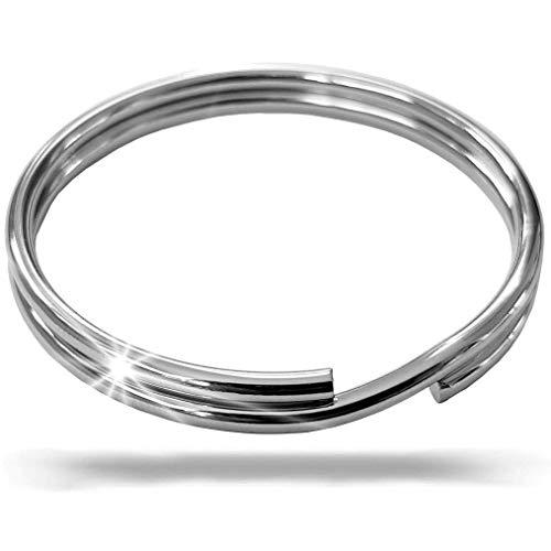 Fuchs Schlüsselringe 10mm 10 Stück - gehärteter Stahl, silberfarben - Verschiedene Größen möglich: 10mm bis 50mm Ø - Ring für Schlüssel - Solider Schlüsselring - Silber vernickelt (10mm - 10 Stück)