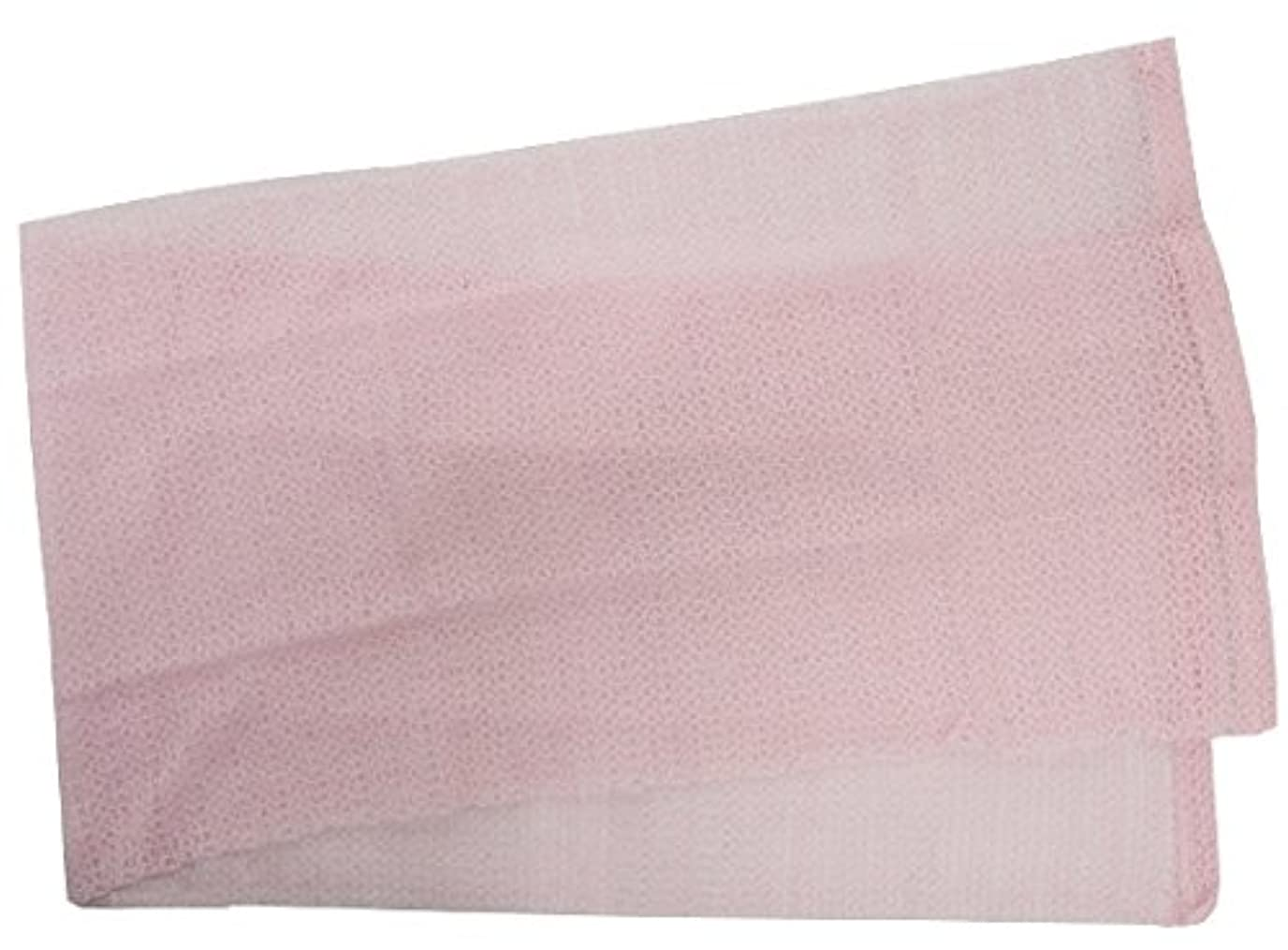 評決透過性ラメ小久保 『メレンゲのような泡立ちとソフトな肌ざわり』 モコモコボディタオル ピンク 24×100cm 2277