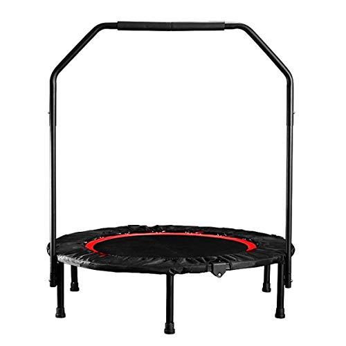 Equipo de entrenamiento para interiores plegable de 40 pulgadas, mini trampolín para ejercicios de gimnasio con barandilla apoyabrazos carga de 150 kg equipo de fitness para interiores