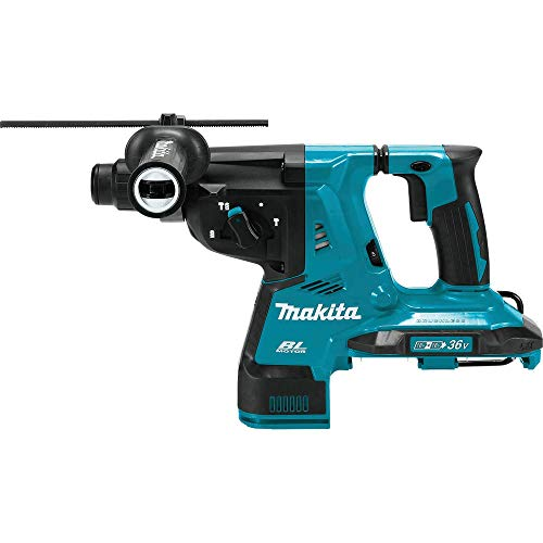 "Makita XRH08Z 18V X2 LXT Lithium-Ion (36V) Brushless Cordless 1-1/8"" AVT Rotary Hammer, accepts SDS-PLUS bits, Tool Only"
