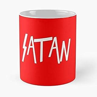 Rock Metal Heavy Slayer Satanic Horror Satan Thrash Taza de café con Leche 11 oz