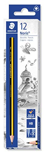 STAEDTLER Noris 118 - Pack de 12 Lápices (Forma Triangular, HB), Color Negro