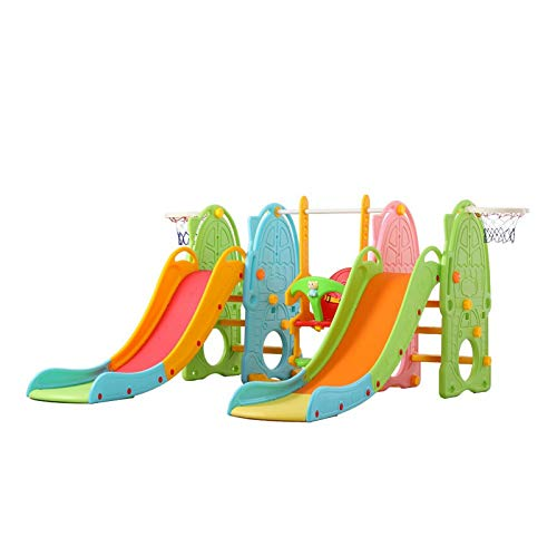 Baby Boys Girls Climber and Swing Set, Toddler Mountaineering and Swing Set, Suitable for Indoor and Backyard Baskets Easy Climb Stairs for Infant Playground Games