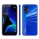 4G Mobiles Baratos Libres, Android 9.0,16GB ROM +2GB RAM Pantalla 5.5 Pulgadas, 3600mAh Smartphone Barato Dual SIM, Teléfonos Móviles Libres 8MP+5MP, Face ID (2 x Micro SIM +1 MicroSD)-Azul