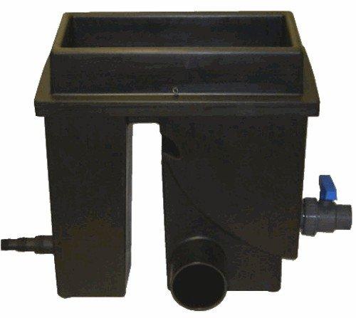 Spaltsiebfilter Bogensiebfilter Teichfilter schwarz Spaltsieb/Bogensieb 150µ mit Schmutzauslass