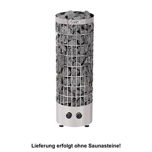 Harvia Cilindro Saunaofen - PC90 9,0 kW mit integrierten Steuergerät, Farbe: Edelstahl