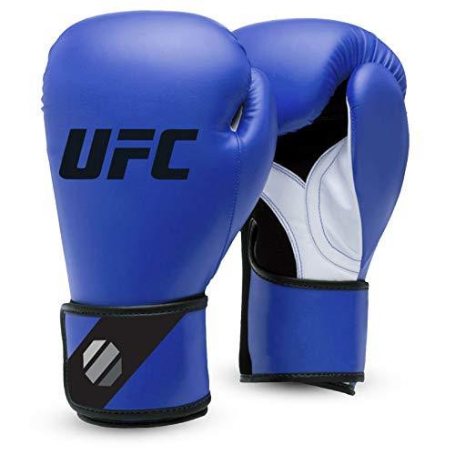 UFC Herren Fitness Training Glove Boxhandschuhe, Blau/Schwarz, 12 oz