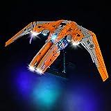 Tewerfitisme Juego de iluminación LED 76193 para Lego Marvel Super Heroes, el barco de los guardianes Avenger, luz LED compatible con Lego 76193 (sin set Lego)