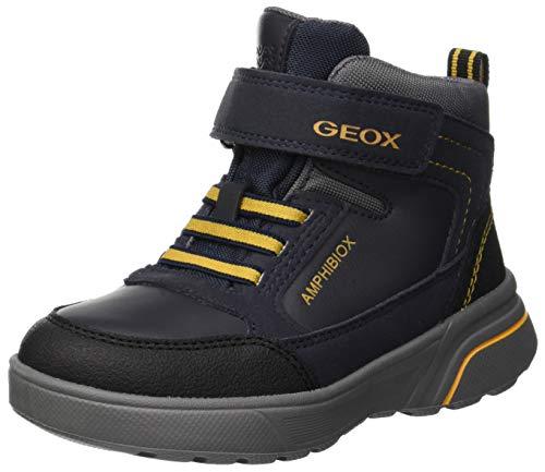Geox Jungen J SVEGGEN BOY B ABX B Klassische Stiefel, Blau Navy Yellow C0657, 32 EU